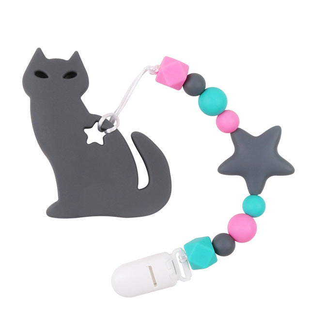 """Le Chat"" Teething Toy & Clip"