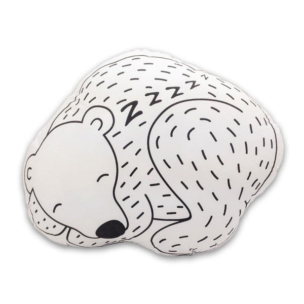 Bjorn The Sleeping Bear Pillow