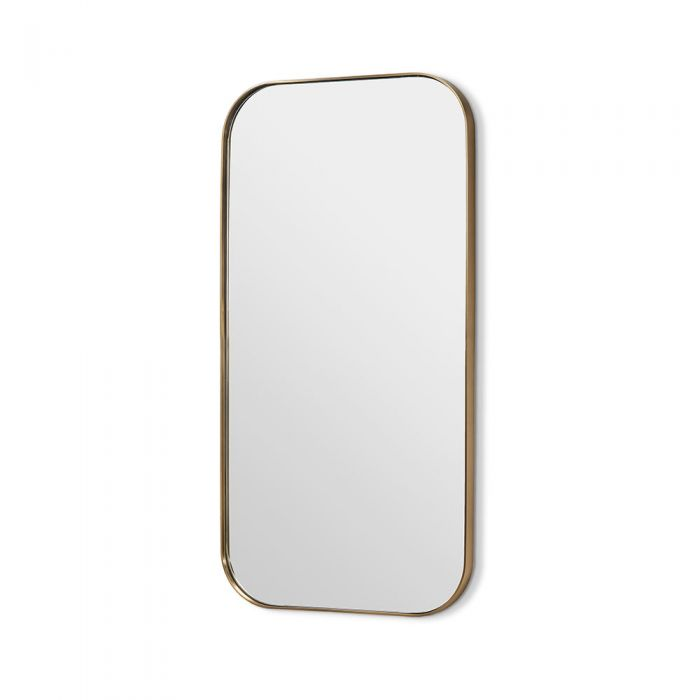 "Aalina Mirror 54"" Brushed Brass"