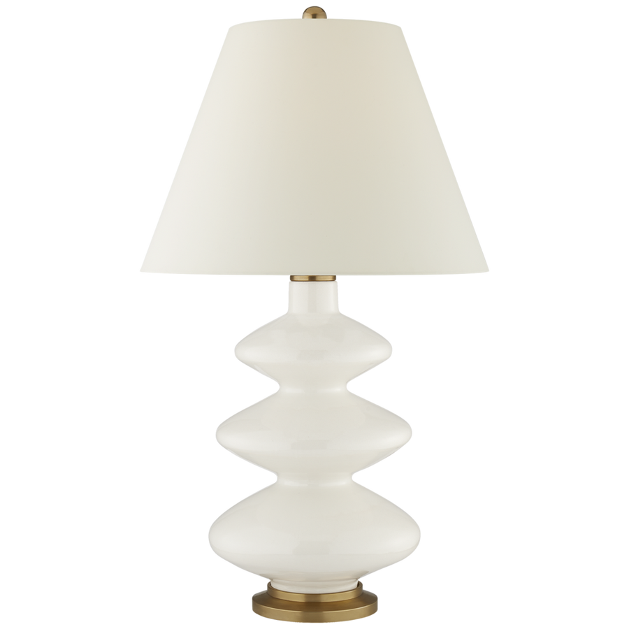 Visual Comfort Smith Large Table Lamp in Ivory with Natural Percale Scale/ Duvall Atelier