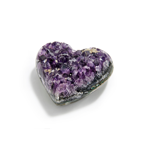 Beautiful heart made from Amethyst.
