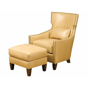 Thomas Leather Wing Chair with Swivel base