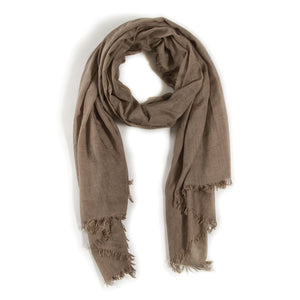 "Olive Frayed Scarf-Duvall Atelier The Lightweight Frayed scarf is an airy, soft accessory. Perfect for any time of the year!  DETAILS:  76""x37"" Viscose/Acrylic blend"