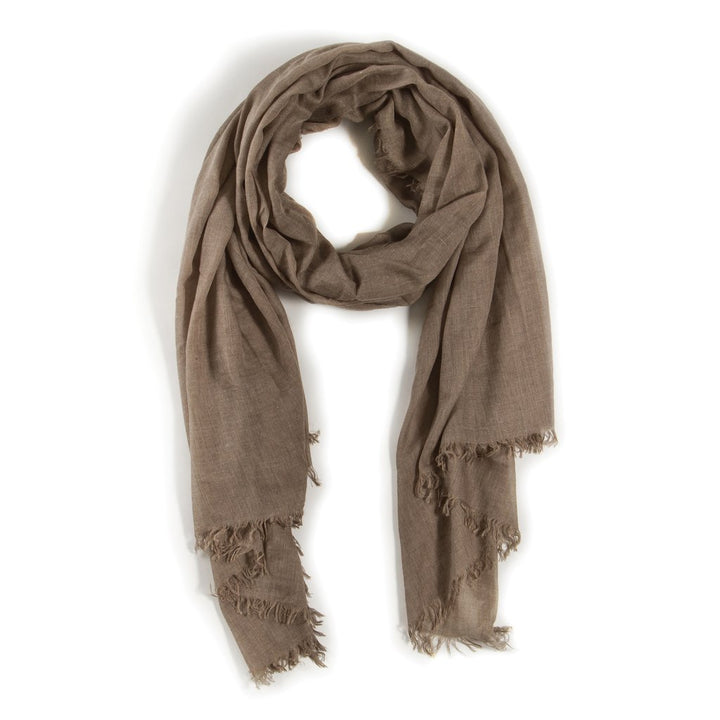 Olive Frayed Scarf-Duvall Atelier