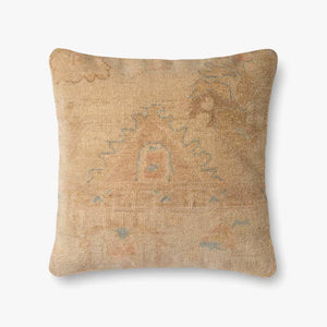 "22"" Square Down-Blend Pillow  Gold -Beige Kilim"