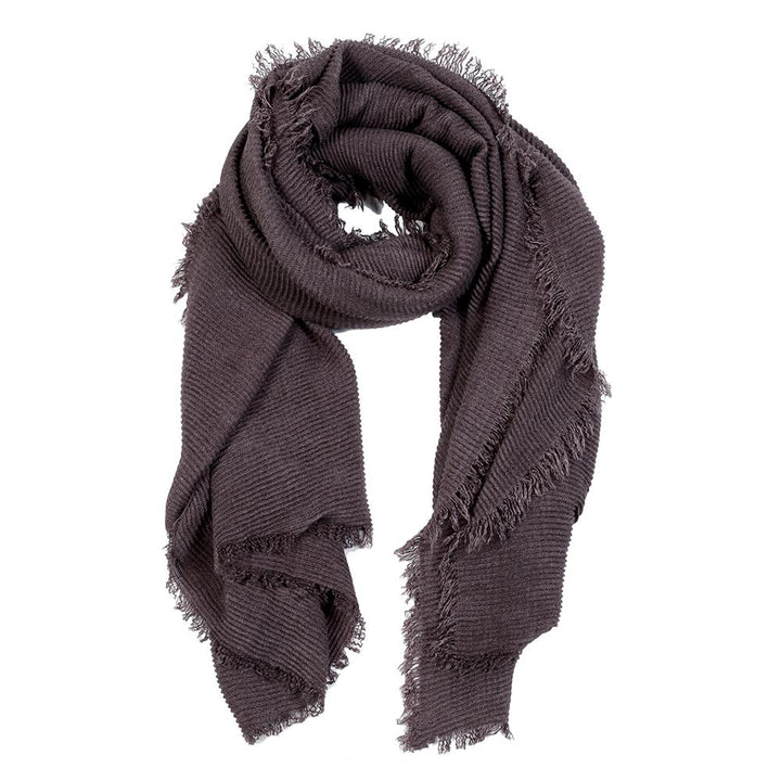 Pucker Scarf - Burgundy