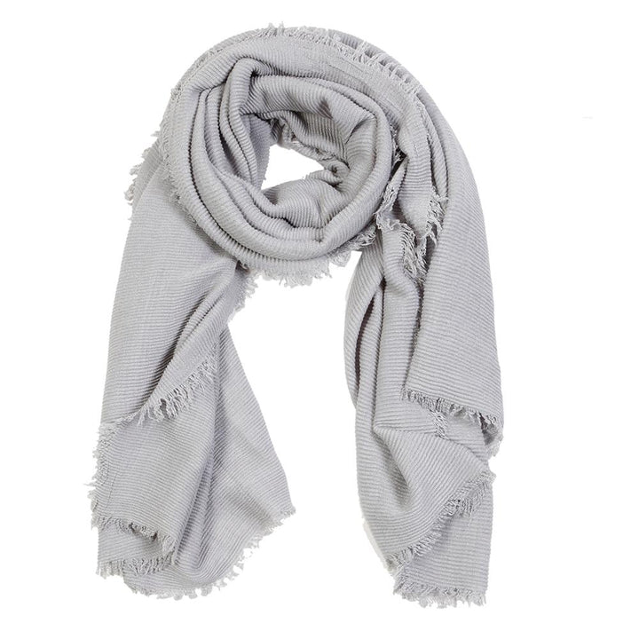 Pucker Scarf - Light Grey