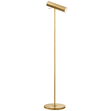 visual Comfort Lancelot Pivoting Floor Lamp Finish:  Hand-Rubbed Antique Brass/ Duvall Atelier