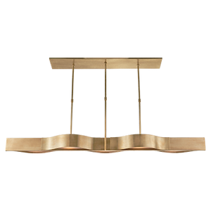 Avant Large Linear Pendant - Duvall Atelier Finish: Antique-Burnished Brass with Frosted Glass