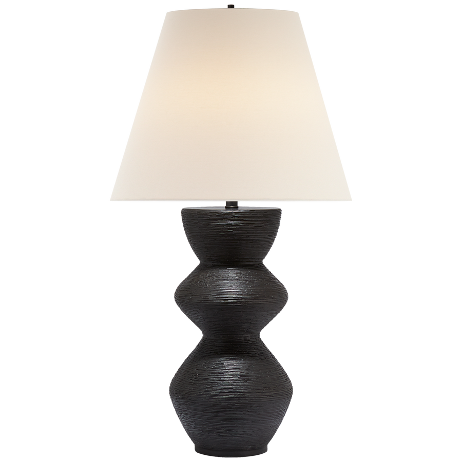 "Designer - Kelly Wearstler   Height: 27.75""  Width: 15""  Base: 4.75"" Round  Socket: E26 Dimmer  Wattage: 100 A"