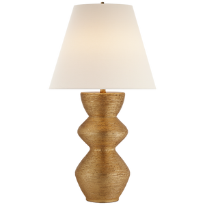 Utopia Table Lamp in Gild with Linen Shade