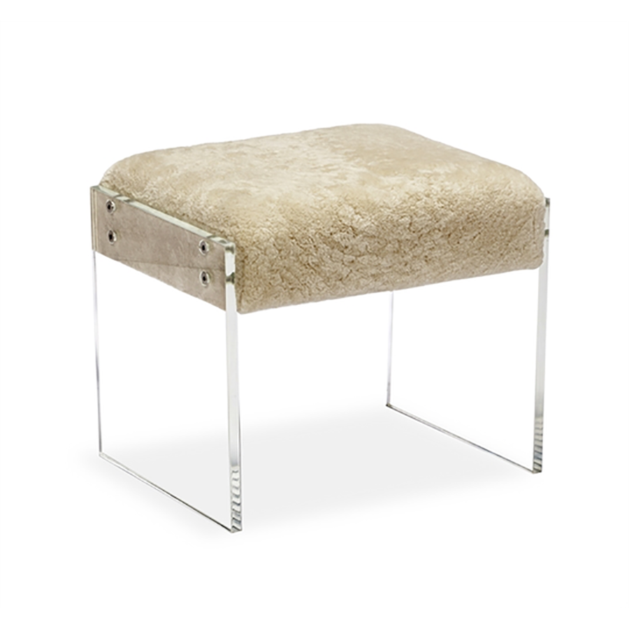 Aiden Shearling Stool - Duvall Atelier