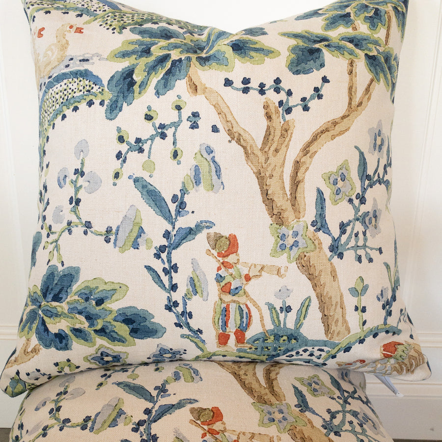 Introducing our ATELIER collection pillows beautifully made in designer fabrics.  22 x 22 Block Print Toile