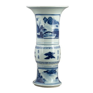 Blue & White Phoenix Tail Vase