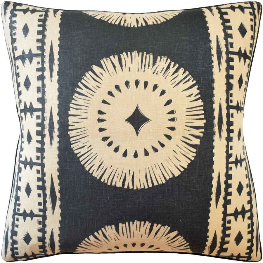 Bora Bora Lava Black Pillow