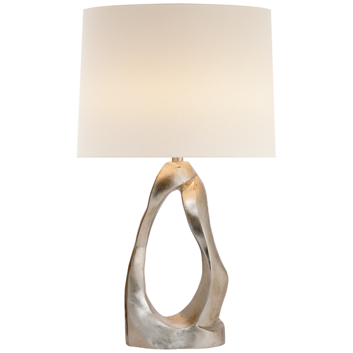 Visual Comfort Cannes Table Lamp-Burnished Silver Leaf/ Duvall Atelier