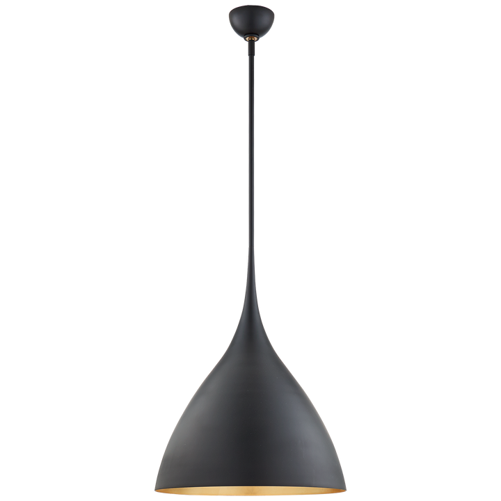 Agnes Medium Pendant - Duvall Atelier Finish: Matte Black with Gild Interior