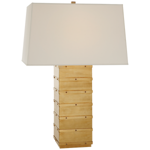 Visual Comfort Bleeker Large Paneled Table Lamp/ Duvall Atelier