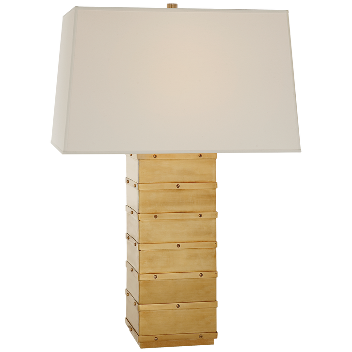 Bleeker Large Paneled Table Lamp