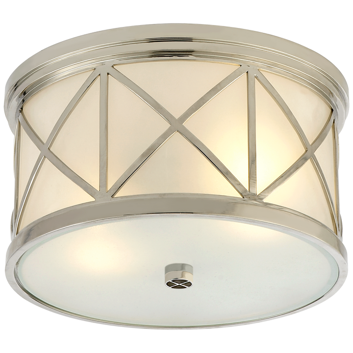 Montpelier Small Flush Mount - Duvall Atelier. Finish: Polished Nickel with Frosted Glass