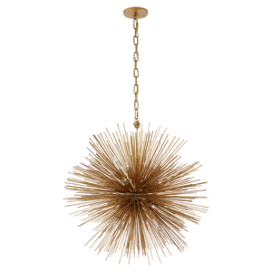 Strada Medium Round Chandelier - Duvall Atelier. Finish: Gild