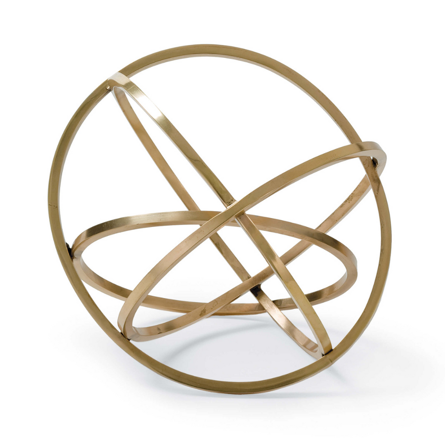 Regina Andrew Ellipse Table Top Accessory Brass, Duvall Atelier