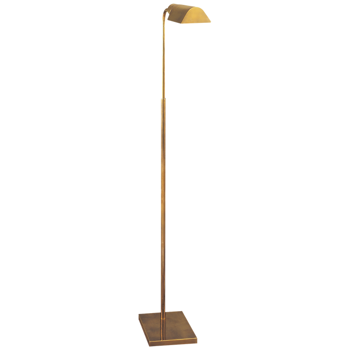 Studio Adjustable Floor Lamp - Antique Brass