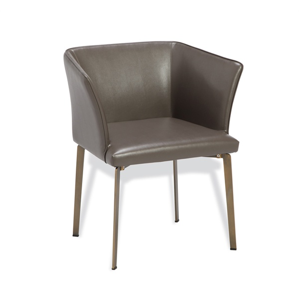 "Vivianna Dining Chair - Duvall Atelier cityscape grey with bronze finish  26""w x 21""d x 29""h"