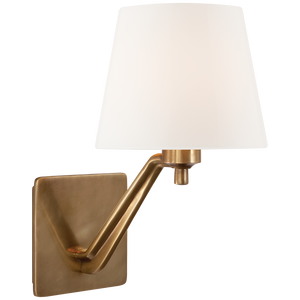 Finish: Hand-Rubbed Antique Brass with White Glass