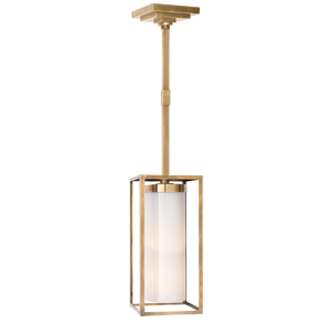 Easterly Large Pendant - Duvall Atelier Finish: Antique-Burnished Brass with White Glass