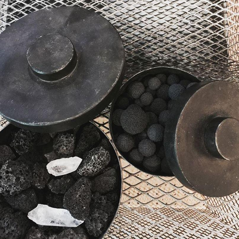 Each Mad et Len creation is housed in one-of-a-kind blackened iron vessels made by the company's own blacksmiths using ancient methods.