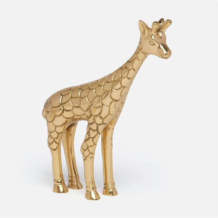 Made Goods Jennifer Brass Giraffe Object, Duvall Atelier