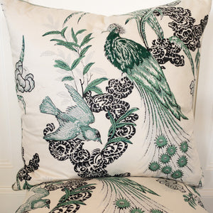 Introducing our ATELIER collection pillows beautifully made in designer fabrics.  22 x 22 Peacock