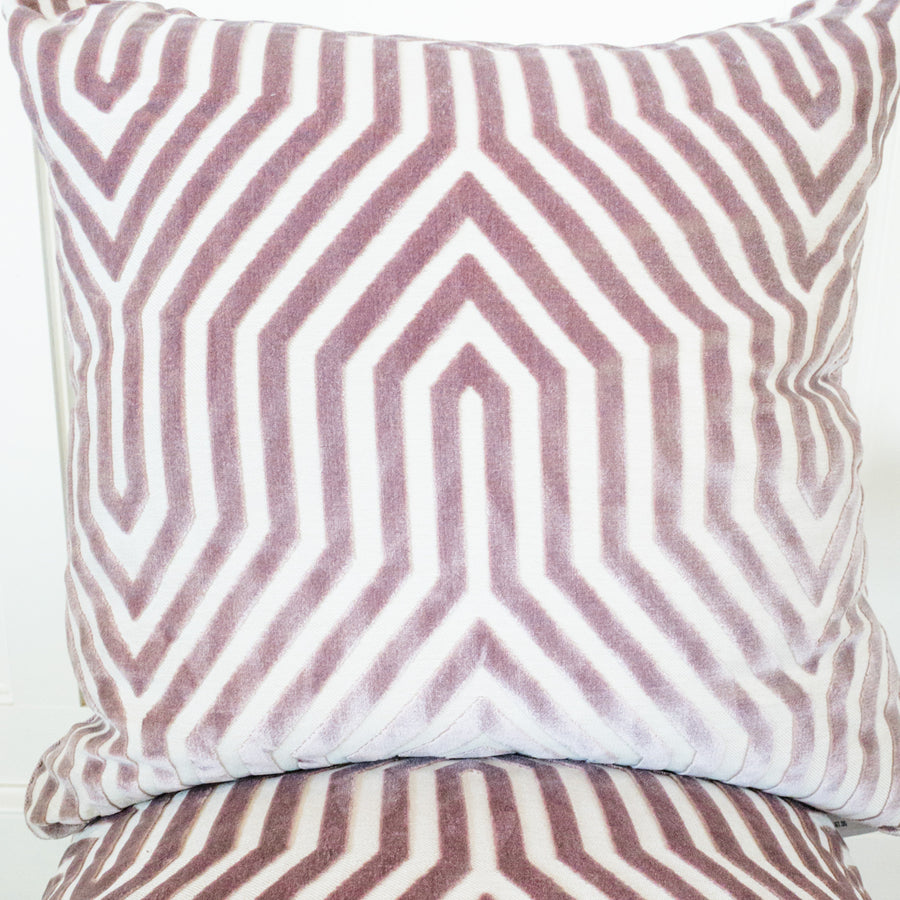 Introducing our ATELIER collection pillows beautifully made in designer fabrics.  22 x 22 Vanderbilt Lilac