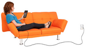 10 ft USB cable, woman in couch