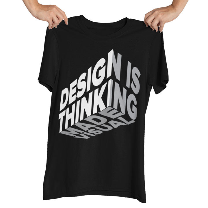 Teexpression Tee Design is thinking made visual design printed on black tshirt