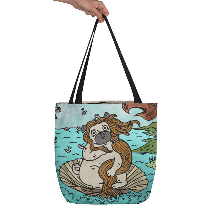 Teexpression Tote Bag hand holding a all-over printed tote bag