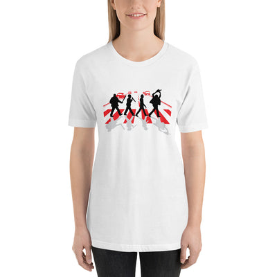 Abbey Road Killer printed on white Unisex premium tee from Teexpression Front Womens