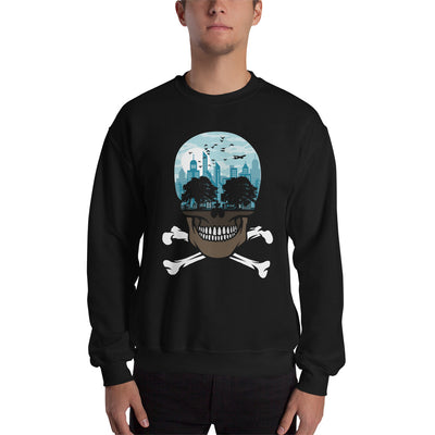 The city of death mockup Front Mens on Black sweatshirt from teexpression