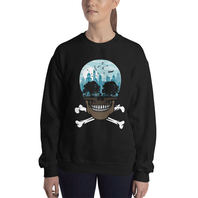 The city of death mockup Front Womens on Black sweatshirt from teexpression