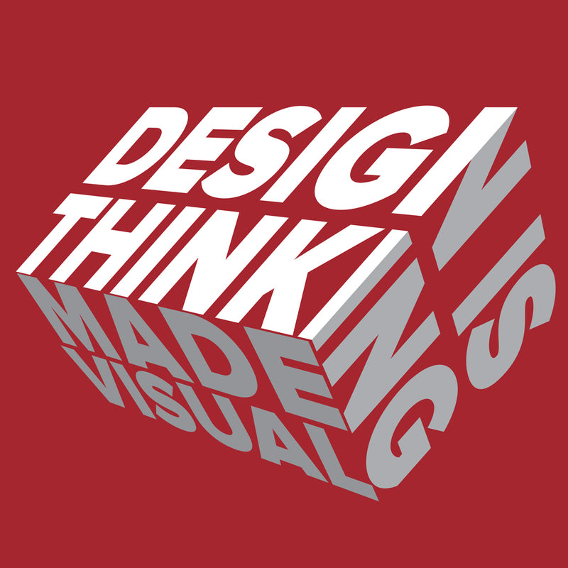 design is thinking made visual from teexpression wh mockup Front Flat Red Unisex Crew Neck Sweatshirt