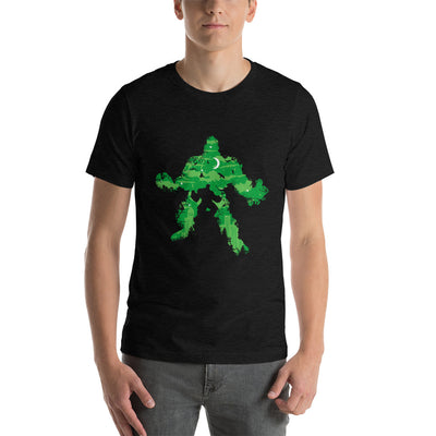 Green Monster mockup Front Mens Black Heather from teexpression