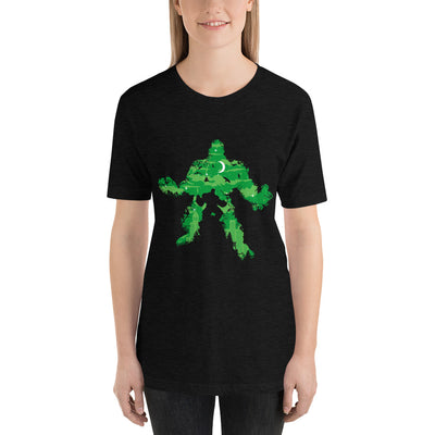 Green Monster mockup Front Womens Black Heather from teexpression