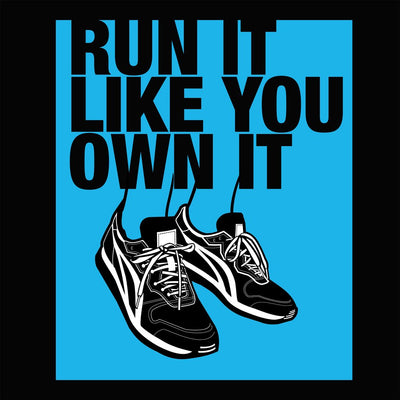 Run it like you Own it Women's Relaxed T-Shirt black close up view