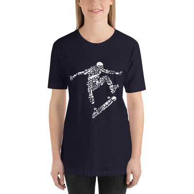 Skater mockup Front Womens on navy from teexpression