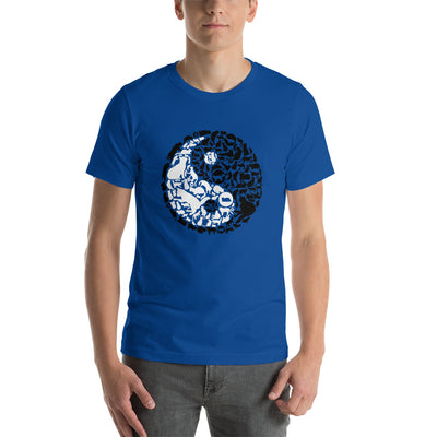 YinYang Cats Unisex premium tee from Teexpression Front Mens True Royal