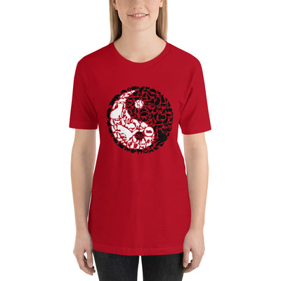 YinYang Cats Unisex premium tee from Teexpression Front Womens Red