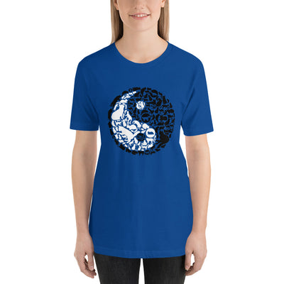 YinYang Cats Unisex premium tee from Teexpression Front Womens True Royal