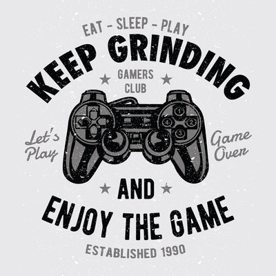 close up Keep Grinding and enjoy the game on white t shirt from teexpression