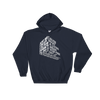 "Typographic 3d design of the phrase ""Just because I enjoy what I do for living doesn't mean I'll do it for free, I'm graphic designer"" on navy pullover hoodie"